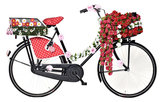 BASIL / Stuurbloemen - ROSES GARLAND - White_