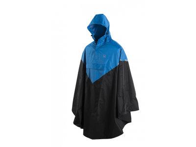WILLEX / Poncho - Blauw/zwart  (Kies je maat)