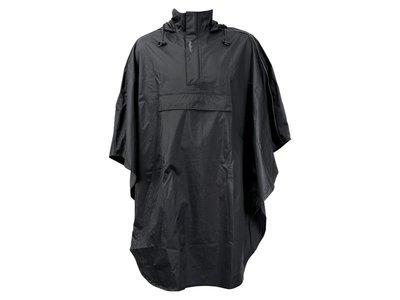 FASTRIDER / Regenkleding - Regenponcho ONE SIZE - Zwart